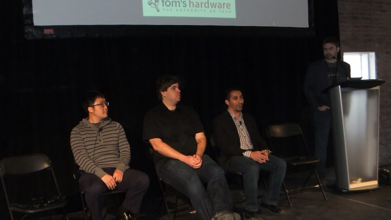 Colin Shin (Silicon Arts), James Dolan (Nvidia), David Nalasco (AMD), Don Doligroski (Tom's Hardware)