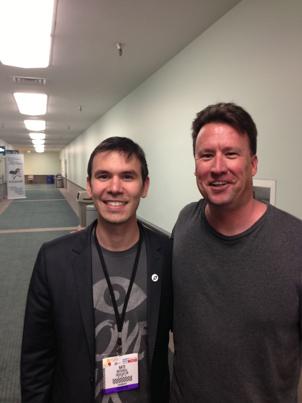 Oculus' Nate Mitchell and Kris Roberts at E3