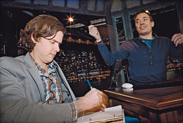 Gavin Purcell (left) and Jimmy Fallon