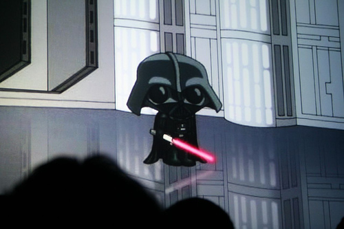 Stewie as Darth Vader