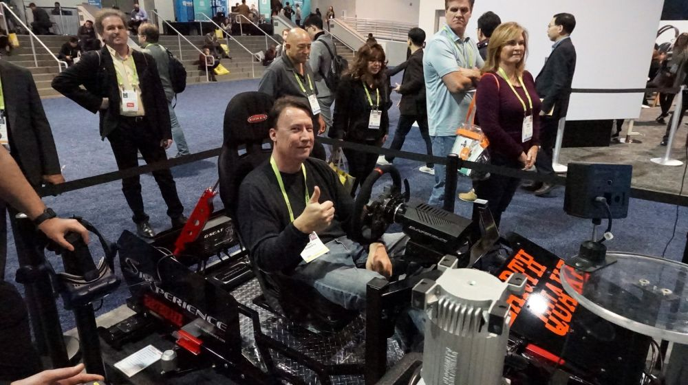 Kris Roberts Goes Race'n at CES 2019