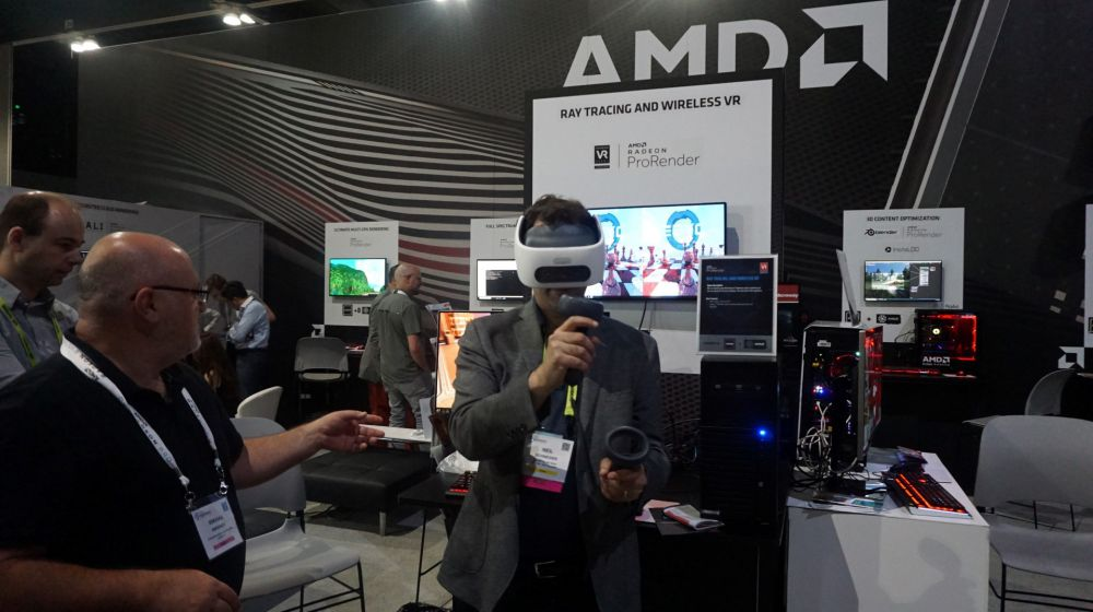 Neil Schneider at AMD Exhibit During SIGGRAPH 2019