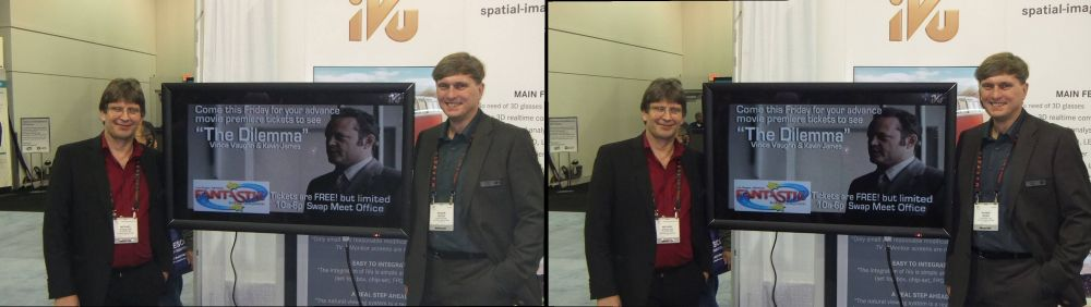 Rainer Weiss (left) and Michael Steglich (right) of Natural View at CES 2011