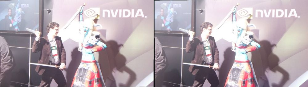 Neil Schneider (CEO of MTBS) vs Worthy Adversary at Nvidia booth
