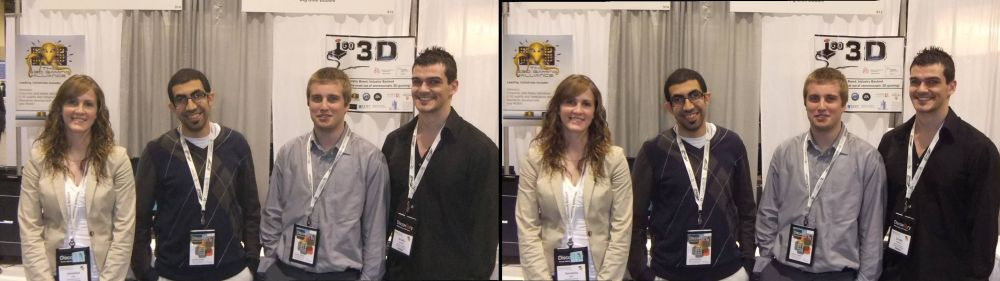 L-R: Veronica Cole, Mina Tawadrous, Chris Zerebecki, and Brodie Stanfield at Discovery 2011