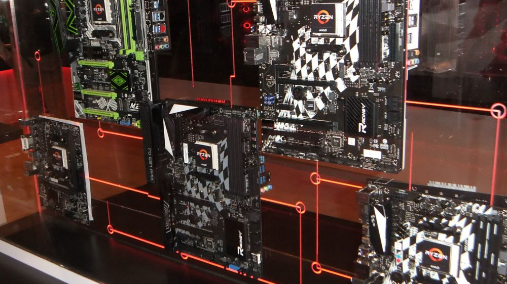 Ryzan motherboards at CES 2017
