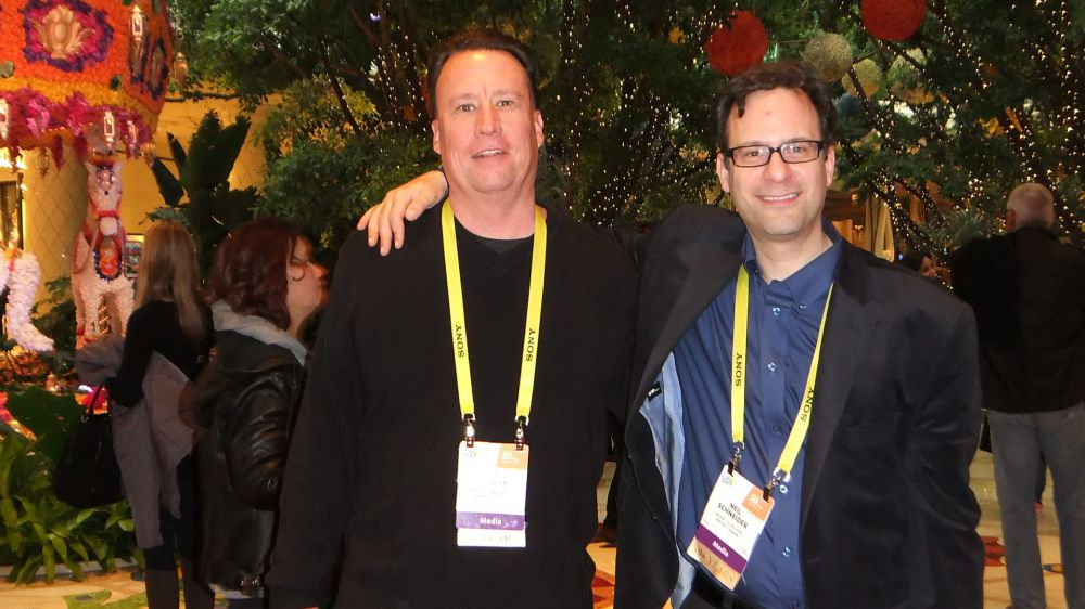 L-R: Kris Roberts and Neil Schneider at CES 2017