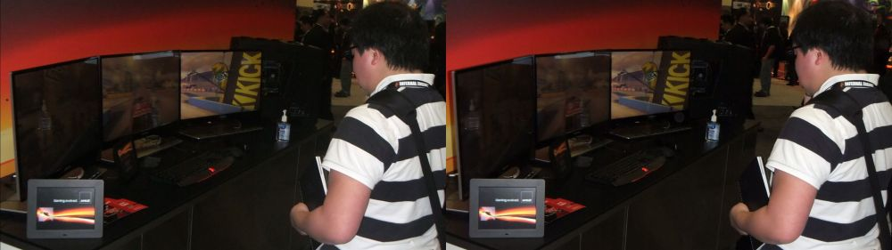AMD Eyefinity 3D Setup at GDC 2012