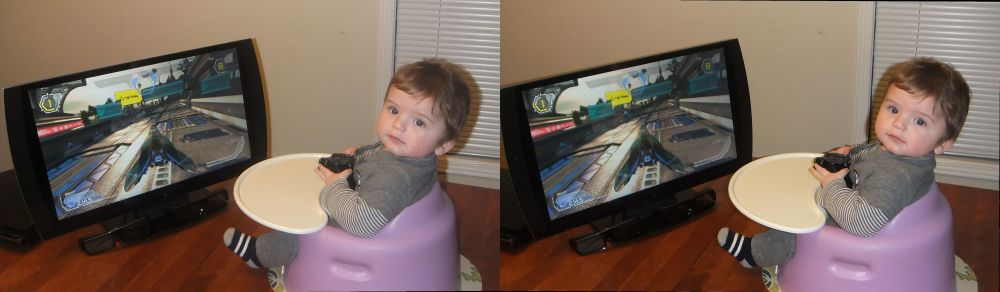 Youngest 3D Gamer in the World with PS3 3D Display!
