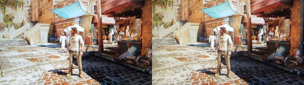Uncharted 3: Drake's Deception on PS3 in 3D