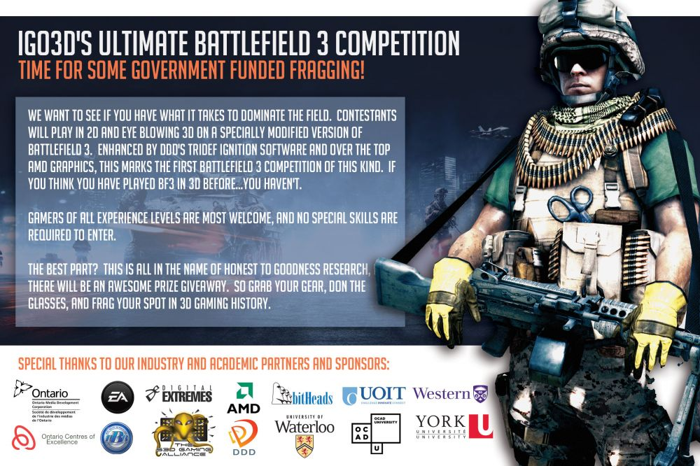 iGO3D Battlefield 3 Fan Expo Competition