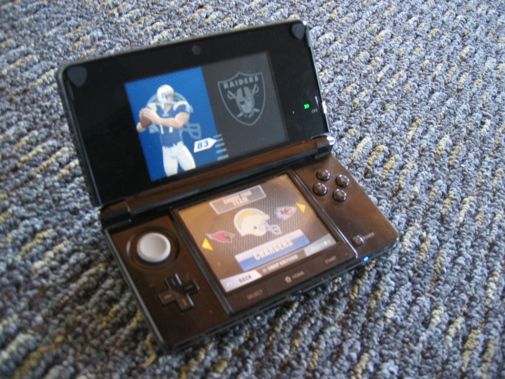 Madden NFL Football on the Nintendo 3DS