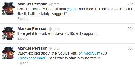 "Markus ""Notch"" Persson Tweet"