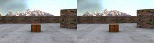 Skyline poorly rendered at screen depth.