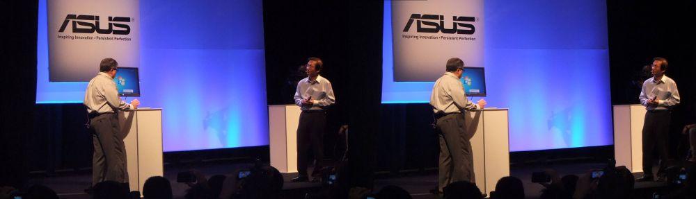 Gary Key (left), Jonney Shih (ASUS Chairman, Right)