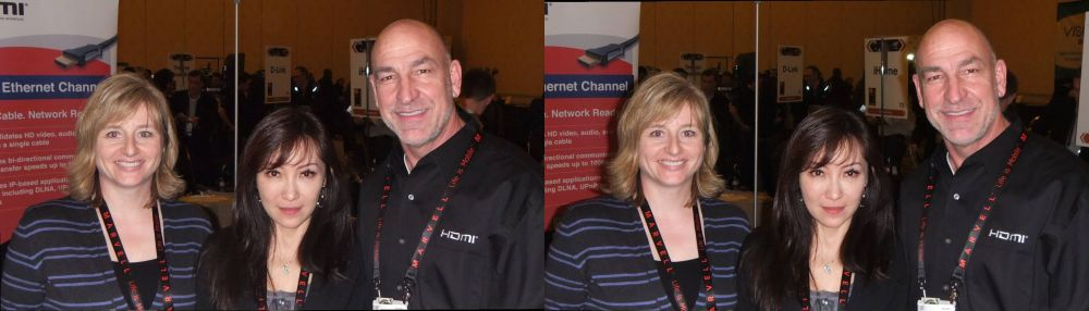 Left to right: Gabriele Collier, Charlene Wan, Steve Venuti from HDMI Licensing