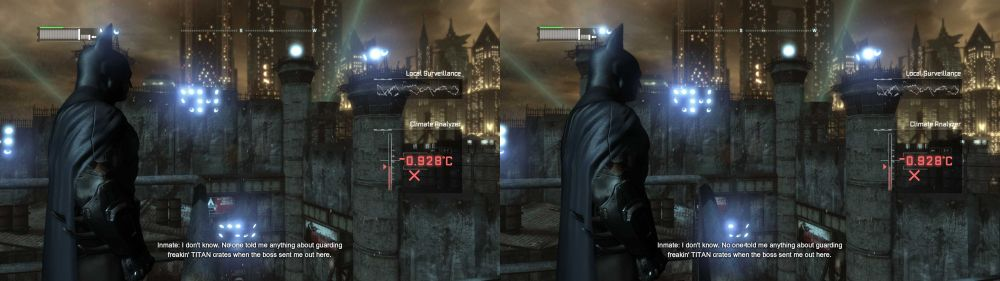 Batman Arkham City in 3D