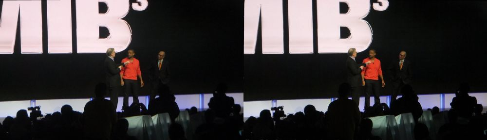 Will Smith talks Men in Black 3 at Sony press event.