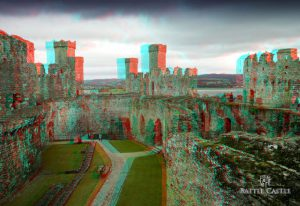 Conwy Castle (Anaglyph 3D Image)