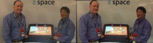 Michael Vesely, Founder, and Pat Quan, VP Business Development for InfiniteZ at GDC 2012