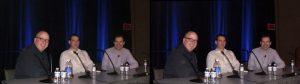 L-R: Buzz Hayes, Simon Benson, Ian Bickerstaff (Team Sony!) at GDC 2012