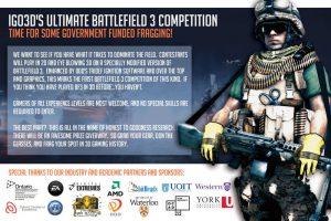 iGO3D Battlefield 3 Fan Expo Competition