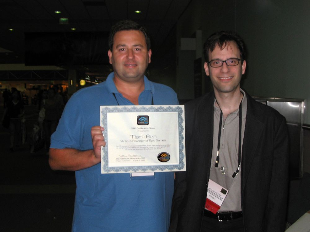 Mark Rein & Neil Schneider at SIGGRAPH 2008
