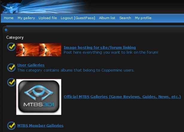 MTBS' Gallery Front Page