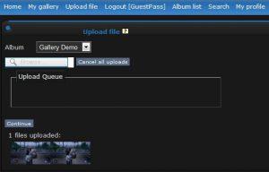 Uploading a file!