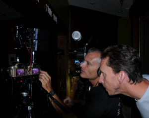 David Cole (Left) working on Anomaly series in 3D