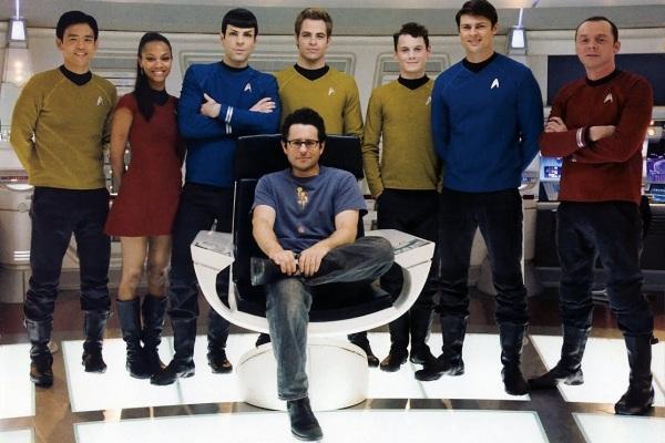 JJ Abrams and the NEW Star Trek cast.