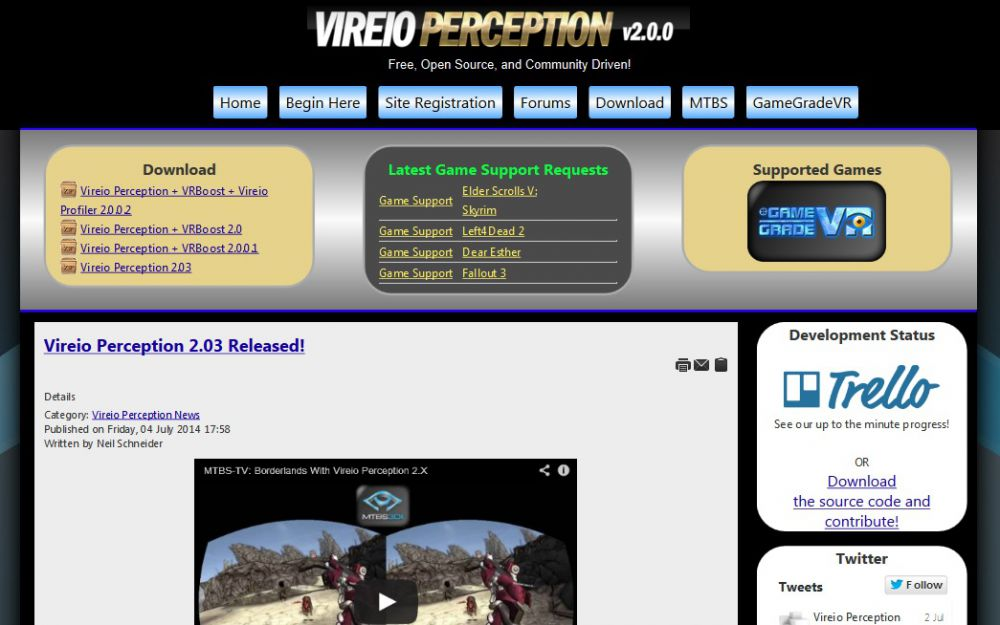 Vireio Perception Microsite