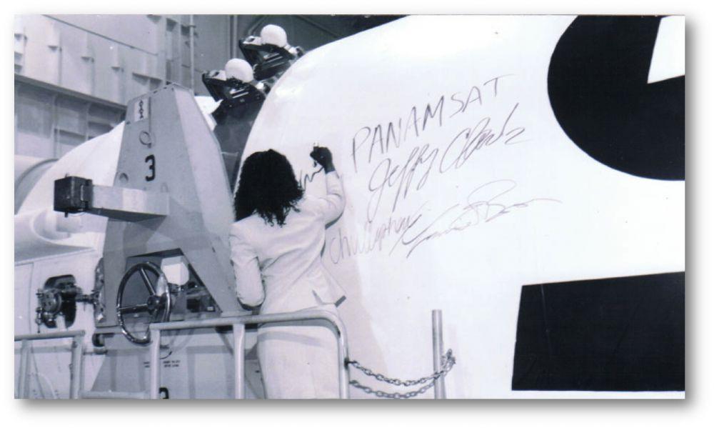 Mary Spio Signing Proton Rocket