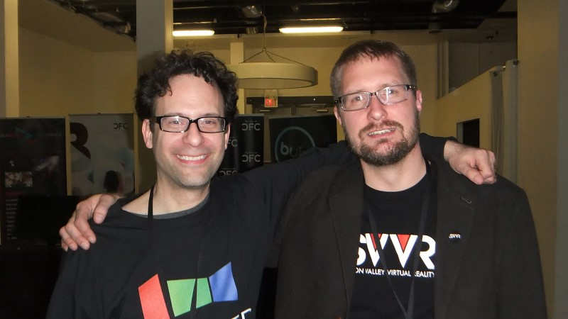 Neil Schneider (MTBS) and Karl Krantz (SVVR) at Immersed 2014