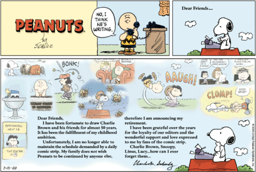 Last Peanuts Strip