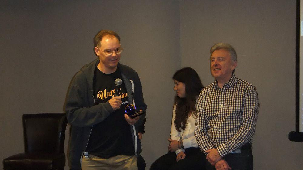 L-R: Epic Games Tim Sweeney and Dr. Jon Peddie of Jon Peddie Research at SIGGRAPH 2016