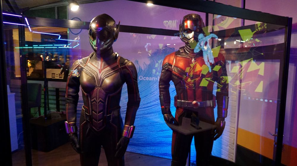 Ant-Man and Wasp Costumes at the Dell Private CES 2018 Party!