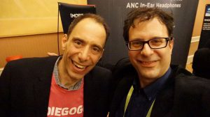 L-R: David Mandelbrot, CEO of Indiegogo and Neil Schneider, Founder of MTBS at CES 2019.