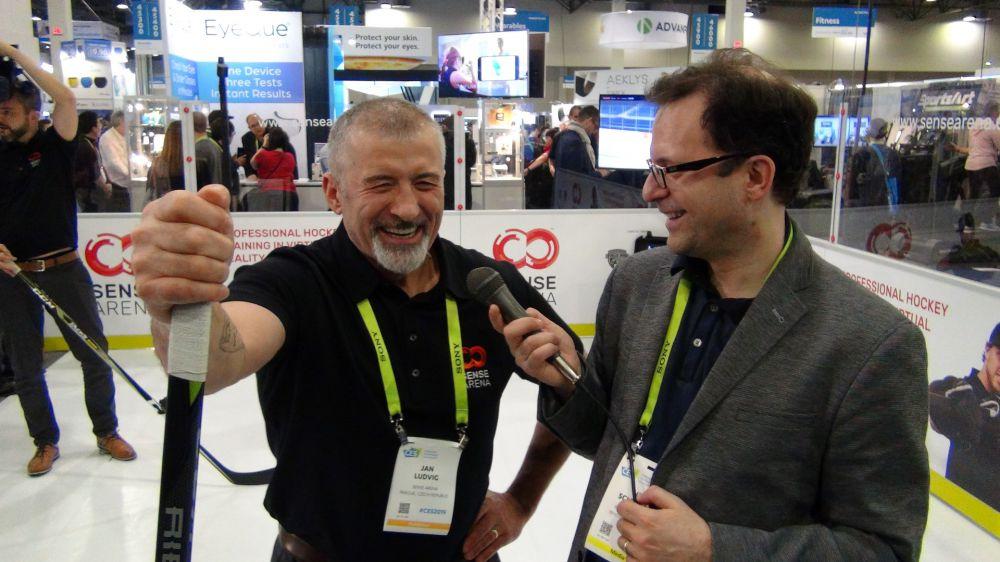 L-R: Jan Ludvig, Former NHL Player for Sense Arena, and Neil Schneider, Founder of MTBS